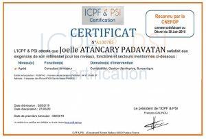 certification-joelle-atancary-padavatan