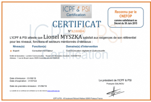 certification-lionel-myszka
